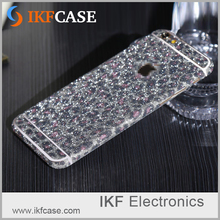 Factory Price Hot Sale Sticker For Samsung Galaxy S7 , Mobile Phone Bling Bling Glitter Sticker Skin Vinyl Decal