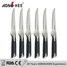 6 pcs 5 Inch stainless steel serrated Steak Knife Set with ABS handle