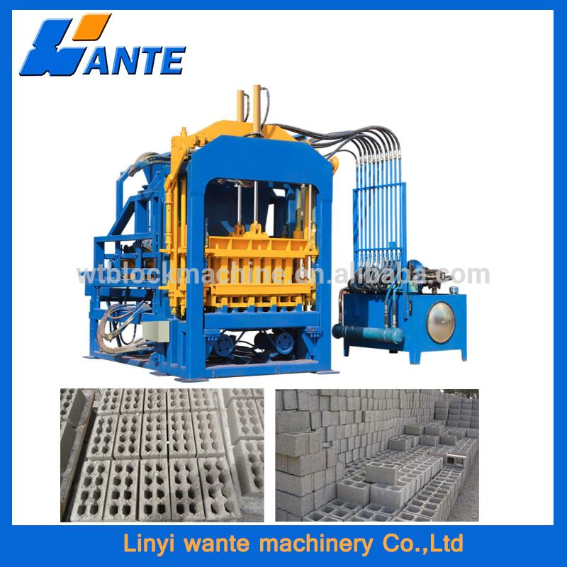 QT6-15 widely used concrete block making machine for sale