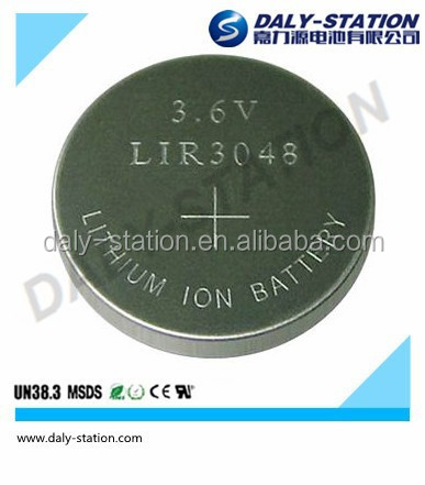 3.6V Li-ion Rechargeable Button Cells Lir3048 battery