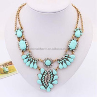 wholesale handmade statement teardrop pendant necklace in China