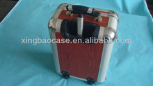 Bag case luggage with Dot jacquard cloth and mesh bag inner,Grainy film beauty case luggage,4 wheel trolley case