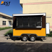 mobile street fast food kitchen van/concession truck/catering coffee van for sale with double braking system & CE