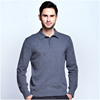 polo neck cashmere sweater for man factory price computer knitted 100% cashmere