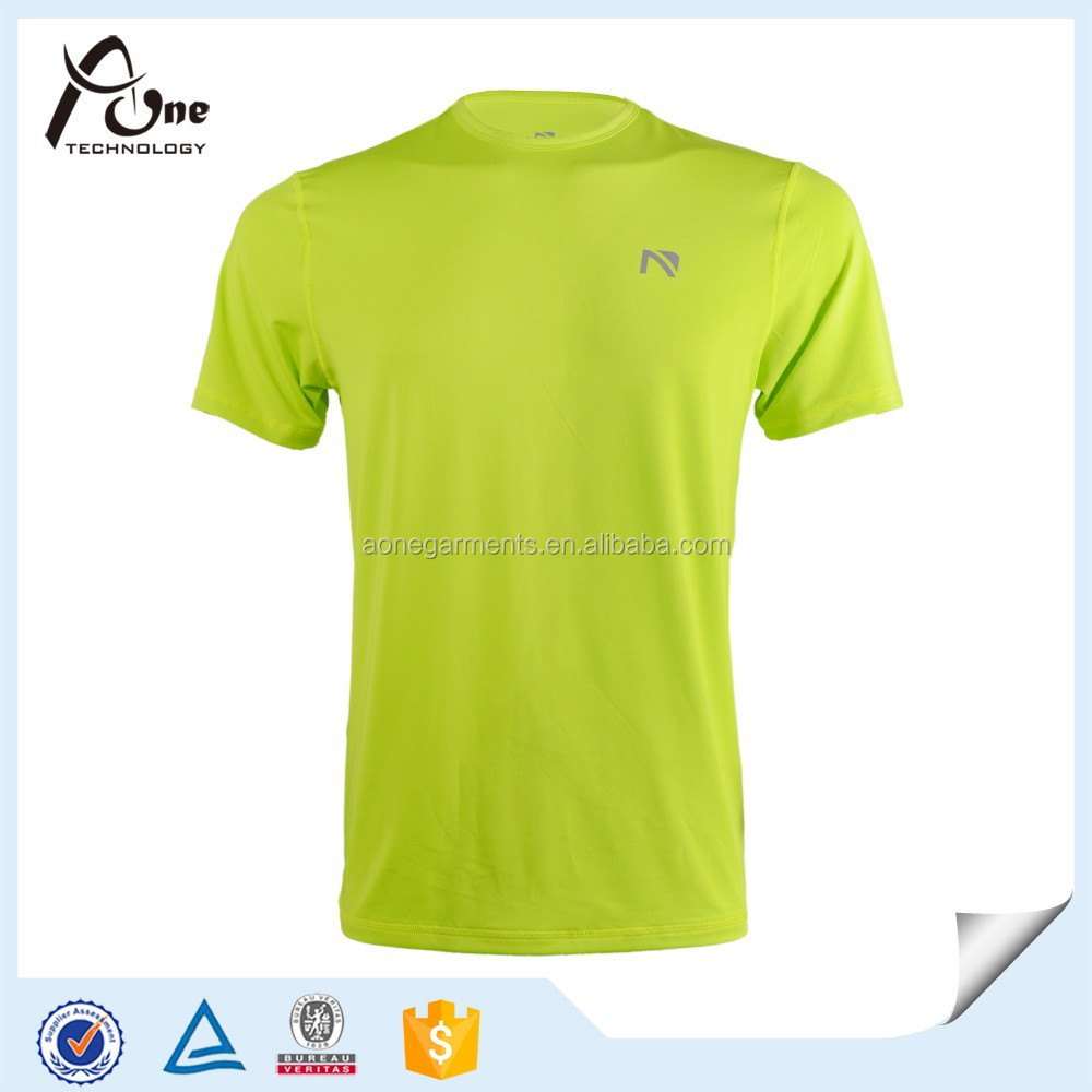 Good Elasticity T Shirt Mens Polyester Spandex T Shirts