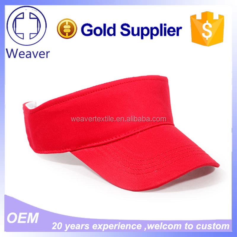 Various Color OEM 100% Cotton Sun Visor Hats