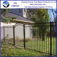 fashional strong garden wrought iron fence and gate