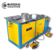 Electric/Hydraulic Type spiral tube lock forming machine Byfo round elbow maker machine