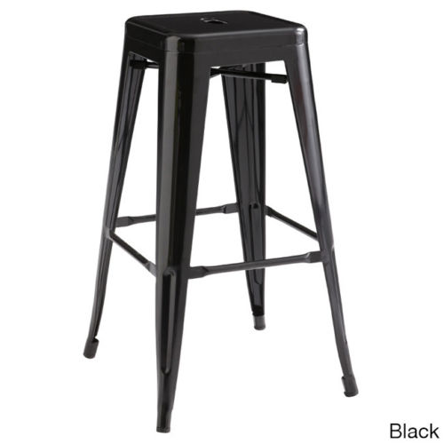 Antique stacking metal dining chair iron bar stools for sale