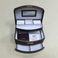 Foldable Mirrored Multi-drawer Jewelry Box
