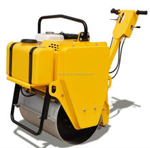 300kg hand hold walk-behind single Drum Vibrating Roller with gasoline engine