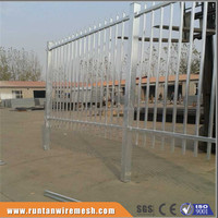 Factory hot dipped galvanized and powder coated ornamental steel fencing panels (Tread Assurance)