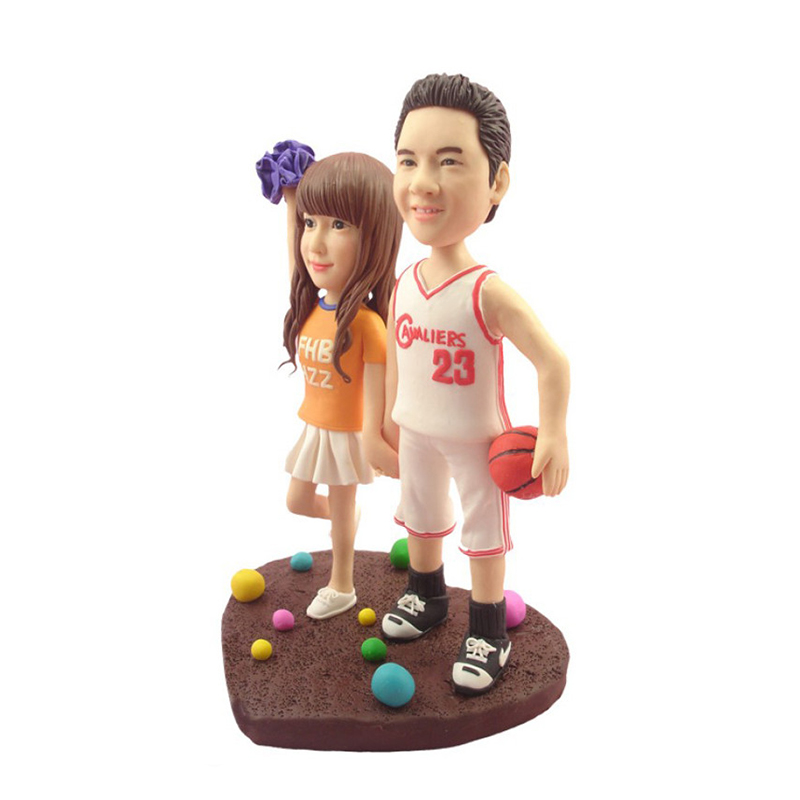 Customize polymer clay lover figurine