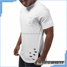 Distress Men Fashion Designer Shirts Bulk Wholesale Gym Clothing
