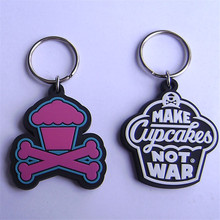 New hotsell custom keyring cupcake diy pvc rubber keychain