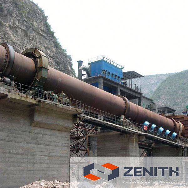 Zenith high efficiency mini cement plant rotary kiln with ISO Approval