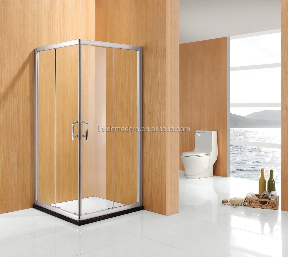 Frame Square Sliding Shower Glass Door Shower Enclosure
