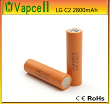 LG 18650 C2 18650 2800mah 3.7v li-ion rechargebale battery cells for Vaping