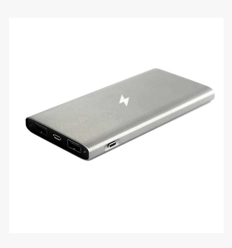 8000mah dual usb slim power bank charger for vivo