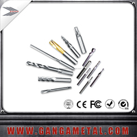 Tungsten carbide long neck micro pcb end mills for copper