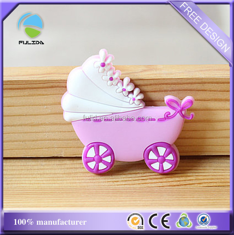 wholesale Baby stroller baby buggy plastic rubber fridge magnet