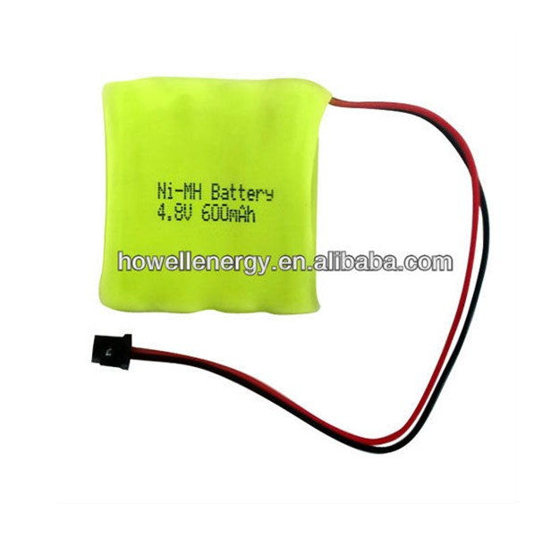 4.8 volt ni-mh battery pack 600mah for cordless phone