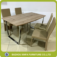 Kitchen Simple Style Fancy 6 Person MDF Wooden Top Coffee Dining Table