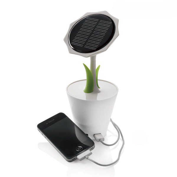 Foldable creative SunFlower solar panel battery charger for mobile phone