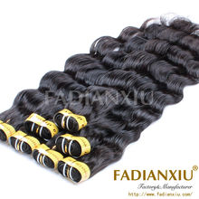 fadianxiu beauty hair extension packaging cheapest human hair weave natural new remy bosin hair