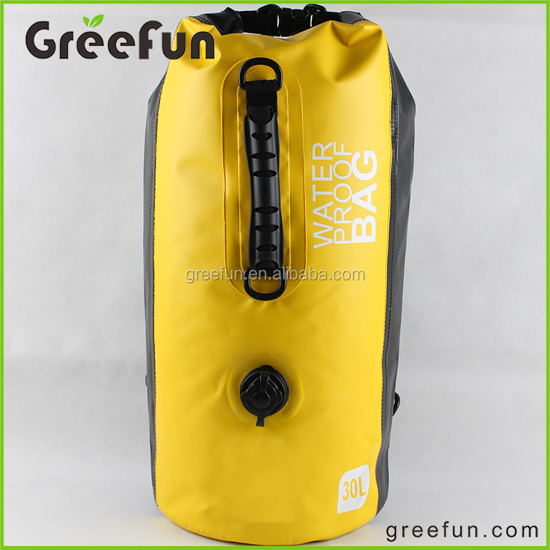 Double Roll Top Dry Compression Waterproof Dry Bag Backpack , Ocean Pack for Camping , Boating, Kayaking, Beach, Rafting, Hiking