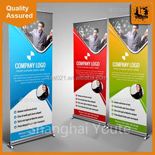 Aluminum business trade fair display roll up banner stand