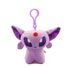 wholesale customed stuffed pokemon eevee kids plush toys toys with keychain