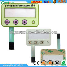 China Plastic 3 Keypads Membrane Switch Panel For Household Products
