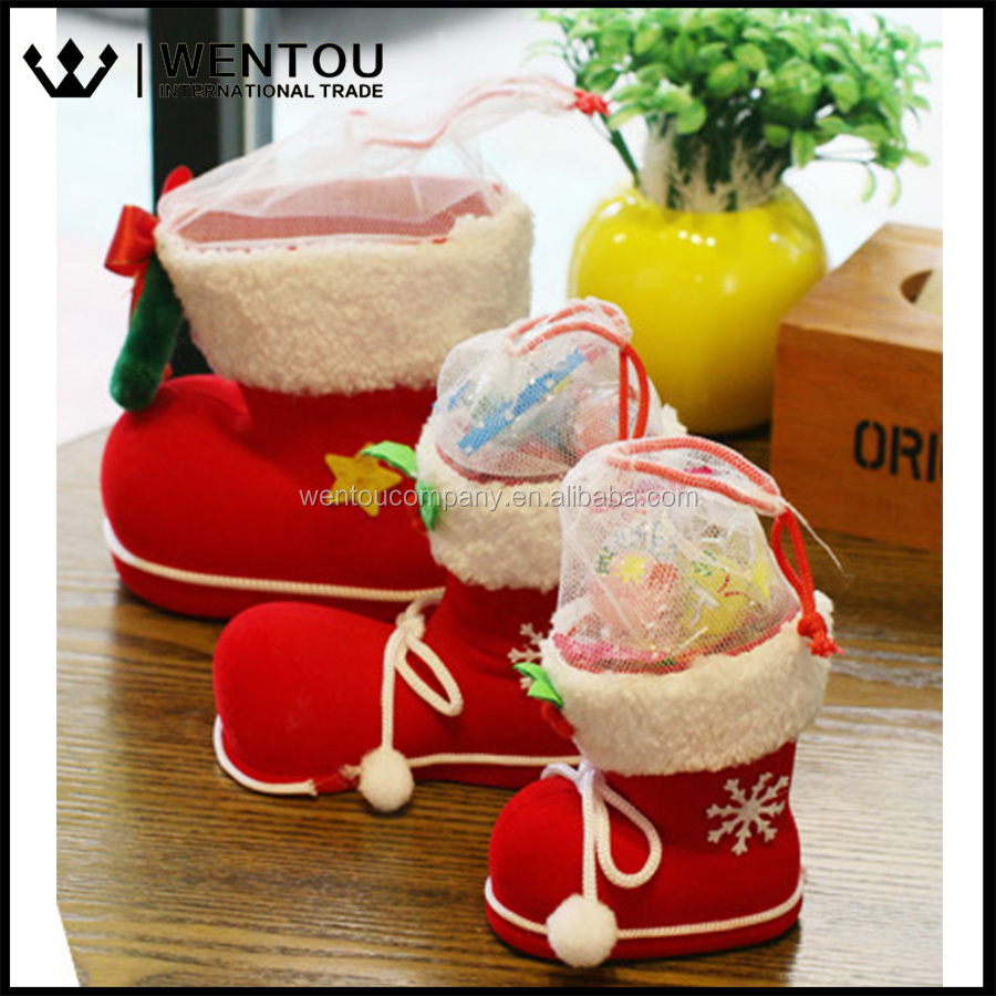 Wentou candy boots christmas decorations buy christmas for Purchase christmas decorations