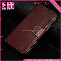 Business Style Flip Wallet Leather case For Samsung S7,Genuine Leather Stand Case For Samsung S7 edge