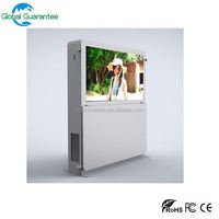 Stand alone CE ROSH IP65 high brightness outdoor advertising machine