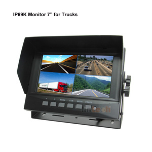 7 Inches Waterproof Monitor with Metal housing IP69K for Mining Trucks Agriculture machine