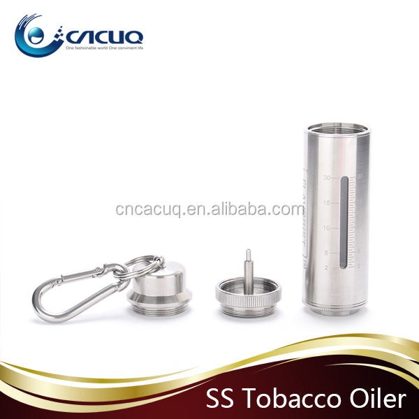 Absolutely cool! Wholesale offering 20ml ss e-juice bottle Flavorist Tobacco Oiler with 20ML stainless steel SS oiler