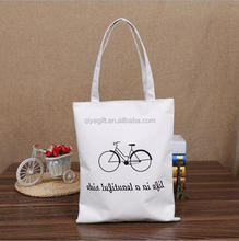 Customized china product plain white handmade shopping canvas cotton tote bag