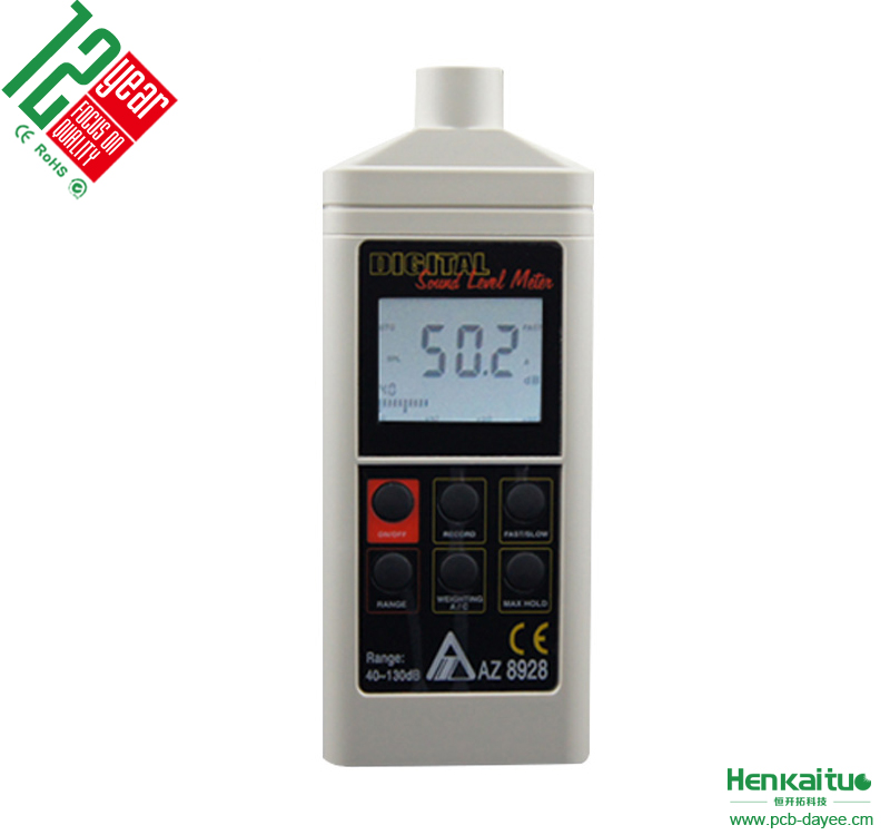 Digital Automotive Sound Level Meter AZ8928 Low Frequency Noise Tester Precision Decibel Meter