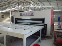 carton box making machine /semi auto flexo printer slotter die cutter