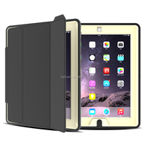 PU+TPU+PC Case with smart cover case for iPad3 Stand Wake Up