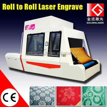 Roll to Roll Galvo Laser Fabric Engraving for Garment Denim Jeans