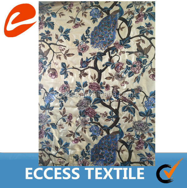 cotton silk embroidered curtain fabric