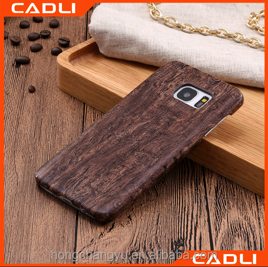 Natural Wood PU Leather Case for samsung S7 edge Flip Stylish Hard Cover for Samsung galaxy S7 edge