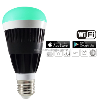 WiFi Smart LED Light Bulb, 10W E26 E27 B22 Dimmable WiFi Control Smart LED Bulb Light