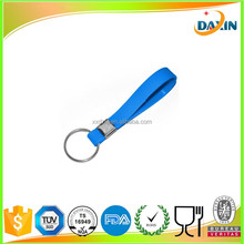 Custom embossed/imprinted/printed logo Silicone Wristband key chain