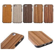 Luxury hard cellphone cover bamboo wood phone case for iphone 5 5s