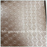 HUAHONG Copper plate decoration pvc leather/pvc leather malasyia
