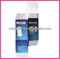 Customized unfolding art paper color box in 2012 for package